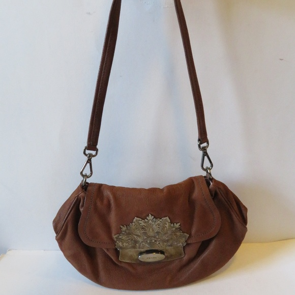 d57e858547 Prada Bags   Authentic Cognac Gun Metal Shoulder Handbag   Poshmark